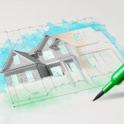 drawing colored house plan conceptn pencil concept 151418852